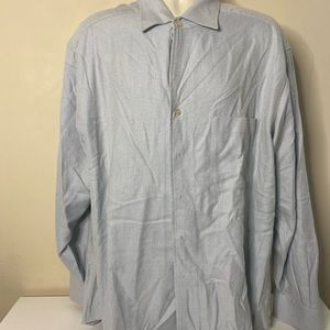 Ermenegildo zegna button front shirt men's size XL